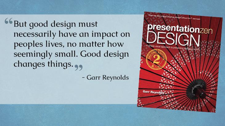 quote from presentation zen design